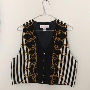Jackets & Blazers - Vintage Cropped Nautical Vest